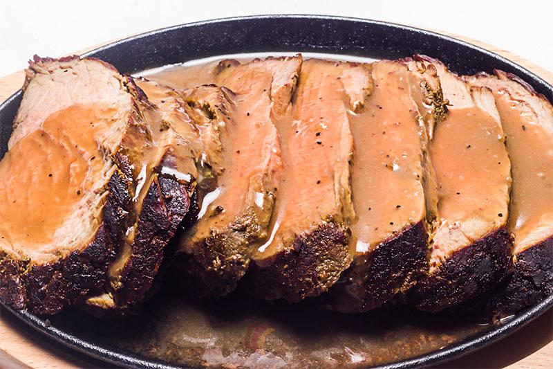 Platillo de ahumado de carne